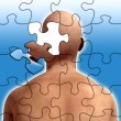 Stock Photo: Puzzle Mind