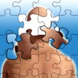 Puzzle Mind - Stock Photo