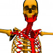 Cartoon Skeleton With Blood — Stock Photo