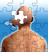 Puzzle Mind — Stock Photo