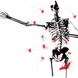Bloody Skeleton — Stock Photo