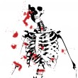 Bloody Skeleton — Foto Stock