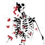 Bloody Skeleton — Stock Photo #7315547