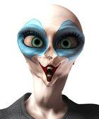 Alien Vampire Clown — Stock Photo