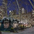 Bryant park at night - Stock Photo
