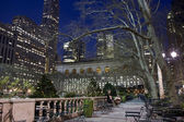 Bryant park at night — Stock Photo