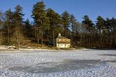 Lac en hiver — Photo