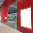 Advertisement blank in a modern building — Stock Photo