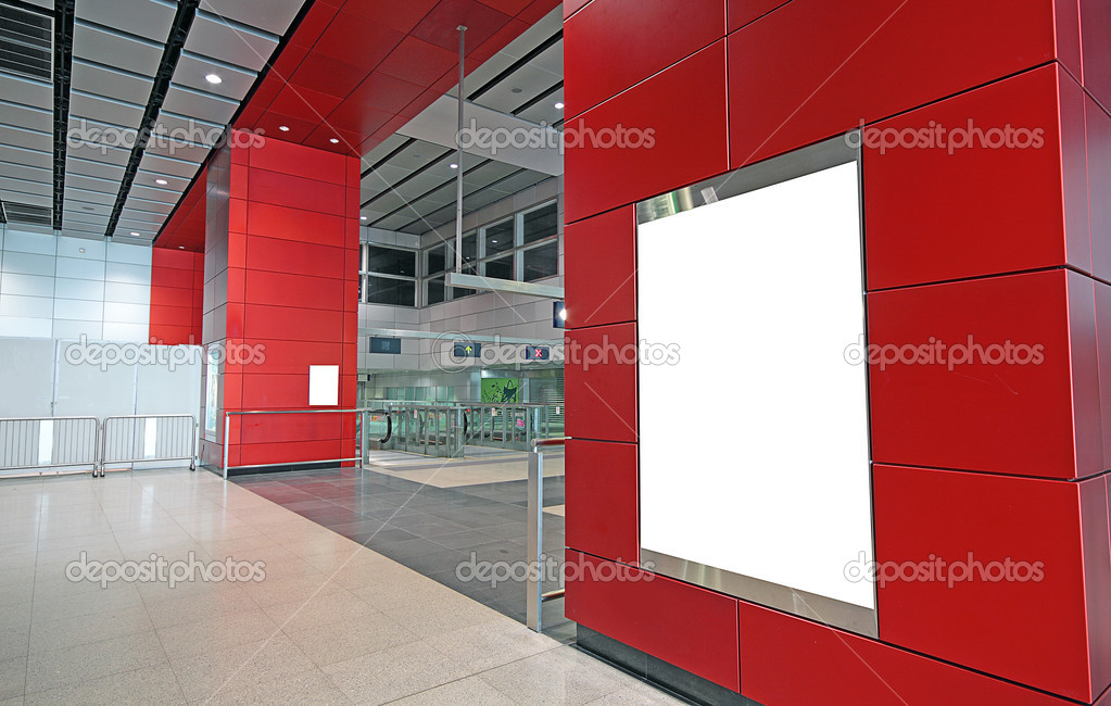 Advertisement blank in a modern building  — Stock Photo #6833058