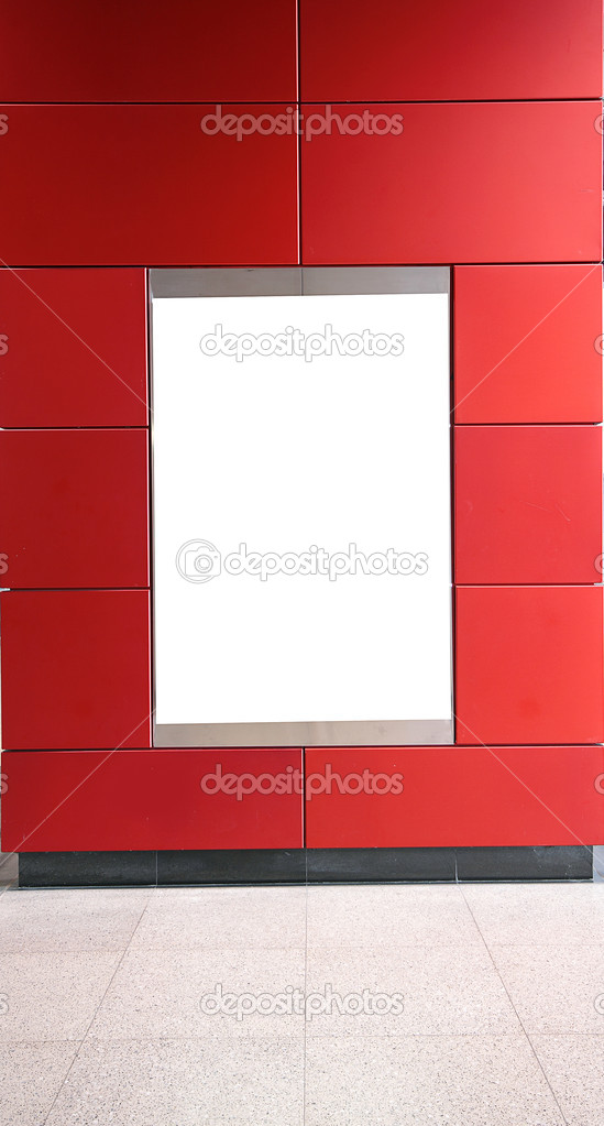 Advertisement blank in a modern building  — Stock Photo #6833288