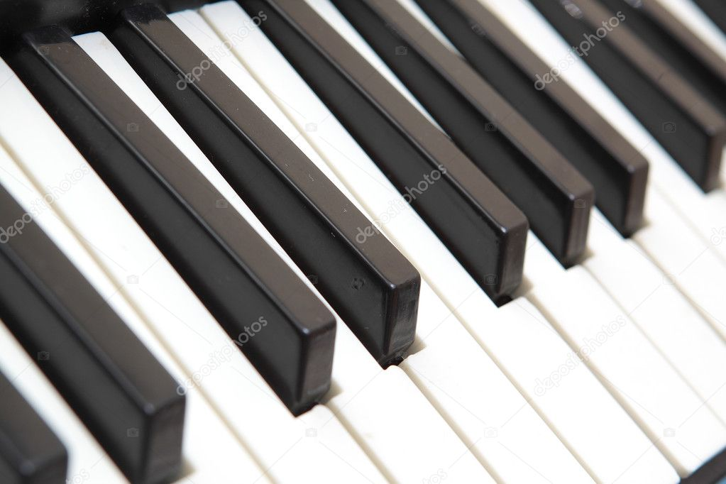 Piano keyboard close up  Stock Photo #6833905