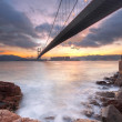 Bridge at sunset moment — Stock Photo #6943852