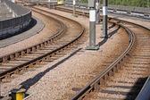 Railway in city — Stock Photo