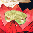 Stock Photo: Lantern of lotus blossom bunch in a festival