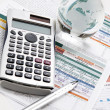 Financial charts and graphs on the table — Stock Photo #7097698