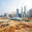 Construction Site in Hong Kong - Stock Photo