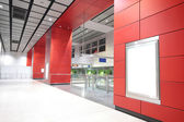 Large Billboard for advertisement use in a modern building — Stockfoto