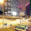 Traffic in modern city at night — Stock Photo #7179564