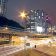 Traffic in modern city at night — Stock Photo #7179566