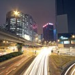 Traffic in modern city at night — Stock Photo #7179568