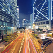 Stock Photo: High speed traffic and blurred light trails