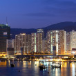 Twilight blue hour at hongkong downtown. — Stock Photo #7301623