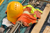 Construction worker supplies close up — Stock Photo