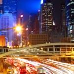 Traffic night in city — Stock Photo
