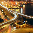 Overpass at night through the port — Stock Photo #7348297