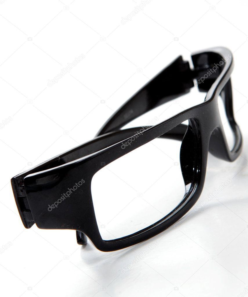 Black glasses on a white background   Stock Photo #7348212