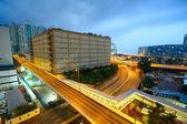 Urban city sunset — Stock Photo