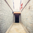 Traditional Chinese architecture, long corridor — Stock Photo