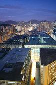 Hongkong urban area in sunset moment — Stock Photo
