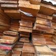 Stack of wooden boards. — ストック写真