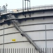 Stock Photo: Gas tanks in industrial estate, suspension energy for transp