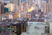 Hongkong urban area in sunset moment — Stock Photo