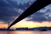 Bridge at sunset moment — Stock Photo