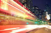 Traffic speed at night — Stock Photo