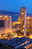 Cement Plant,Concrete or cement factory, heavy industry or const — Stock Photo