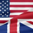 Stock Photo: US UK Flag