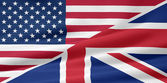 US UK Flag — Stock Photo