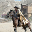Cowboy on horseback at the Mini Hollywood Movie Set — Stock Photo