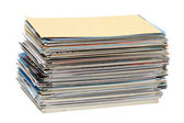 Stack of postcards — Stock Photo