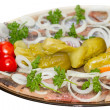 Herring with an onions and pickled vegetables — Stock Photo #7886016