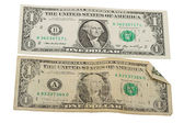 Old and New One Dollar Bill — Stock Photo