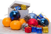 Heap christmas gifts — Stock Photo