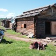 Typical wooden house in northern Mongolia — Stock Photo