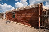 Typiskt trä hus i västra mongoliet — Stockfoto