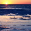 Royalty-Free Stock Photo: Winter sunset on the ice of Lake
