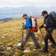 Two backpackers in mountains — Stock Photo #7567453